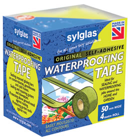 Sylglas original Waterproofing Tape  - recommended for use on leaking greenhouses on wooden glazing bars and other general jobs around the home and garden.